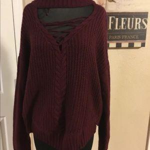 *plus size* Burgundy sweater